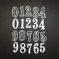 LZBRDY 0-9の数字メタルカットダイス 1.2×2インチ スクラップブックやカード作成用