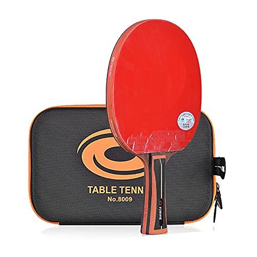 LINGOSHUN Raquetas de Ping Pong de 15 Estrellas,Carbono Aprobado por la ITTF Raquetas de Tenis de Mesa de Entrenamiento Avanzado Mango CóModo/Single/Long handle