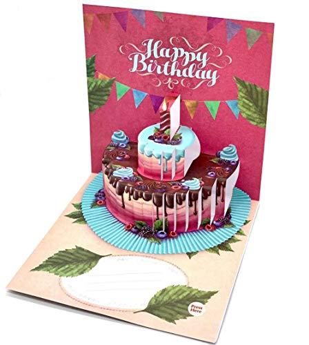 UNIQARD® 3D-Geburtstagskarte - Popup Karte 3D Karte mit Aufnahmefunktion - Außergewöhnliche Grußkarten zum Geburtstag - Geschenkideen, ideal für Gutscheine & Geldgeschenke - Für Kinder & Erwachsene