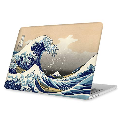 FINTIE Rigida Custodia per MacBook PRO 13 con/Senza Touch Bar 2019/2018/2017/2016 (A2159/A1989/A1706/A1708) - Ultra Sottile Plastica Case Cover Copertina, Rough Sea
