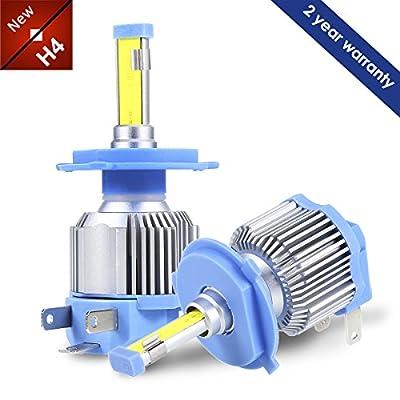 H4 9003 HB2 LED Headlight Bulbs Conversion Kit, GreenClick Xenon white LED retrofit kits 40W 6500K, 2 yr Warranty