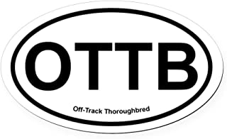 CafePress OTTB Off Track Thoroughbred Oval Oval Car Magnet, Euro Oval Magnetic Bumper Sticker