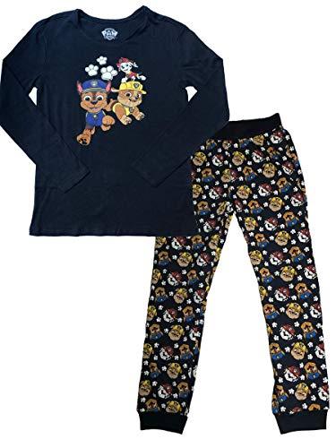 Paw Patrol Schlafanzug Kinder Pyjama Set Hose und Oberteil aus 100% Baumwolle Paw Patrol Pyjama Jungen und Mädchen ÖKO TEX Standard (110/116)