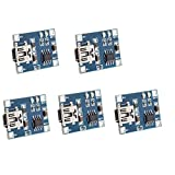 KKHMF 5 個 TP4056 5V 1A ミニ USB 車載充電器 電池 充電 リポ Lipo 充電器 モジュール Arduino用