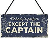 RED OCEAN Nautical Sign Captain Bar Pub Bathroom Man Cave Kitchen Plaque Fishing Boat Gift For Men