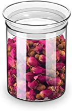 ZENS Airtight Glass Jar Container,15 Fluid Ounce Clear Glass Canister with Lid, Food Storage Jarsfor Kitchen Spice or Loose Tea,450ml