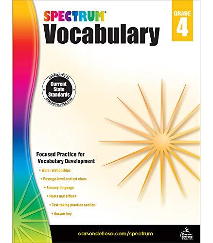 Spectrum Paperback Vocabulary Book, Grade 4, Ages 9 -10