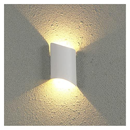 lámpara de pared Lámparas de pared Dormitorio Decoración IP65 Lámpara vintage Armario de baño Montado en la pared Terranze impermeable (Color Temperature : Cold white, Size : White)