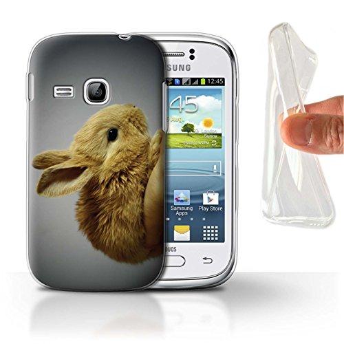 eSwish Carcasa/Funda TPU/Gel para el Samsung Galaxy Young/Serie: Lindos Animales de Compañía - Conejito/Conejo