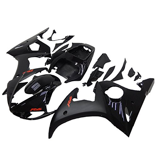 NT FAIRING Red Decals Black Injection Mold Fairing Fit for Yamaha YZF 2003-2005 R6 & 2006-2009 R6S New Painted Kit ABS Plastic Motorcycle Bodywork Aftermarket