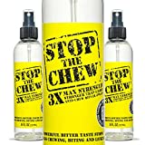 Emmy's Best Stop The Chew 3X Strength Anti Chew Bitter Spray Deterrent for Dogs and Puppies - Alcohol-Free - Most Powerful Bitter Deterrent - 8 Ounce