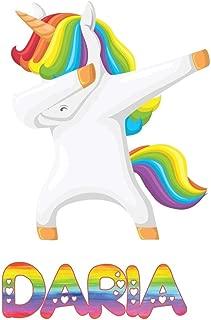 Daria: Daria 6x9 Journal Notebook Dabbing Unicorn Rainbow
