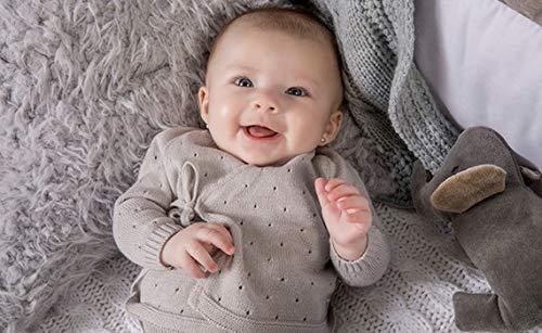Minutus Primera Puesta bebé Conjunto Aire + Gorro, 100% Algodón (Gris)