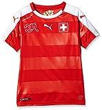 PUMA Kinder Trikot Suisse Home Replica Shirt, Red/White, 152