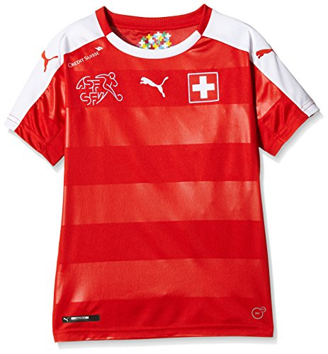 PUMA Kinder Trikot Suisse Home Replica Shirt, Red/White, 152