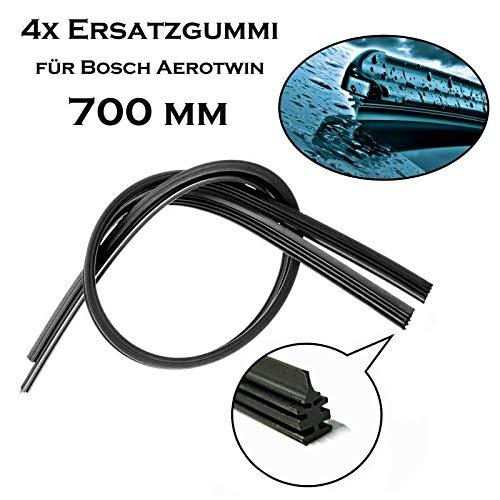 4x 700 mm Jurmann Original Premium Qualität Scheibenwischergummi Ersatz Wischerblätter Gummi für Bosch Aerotwin