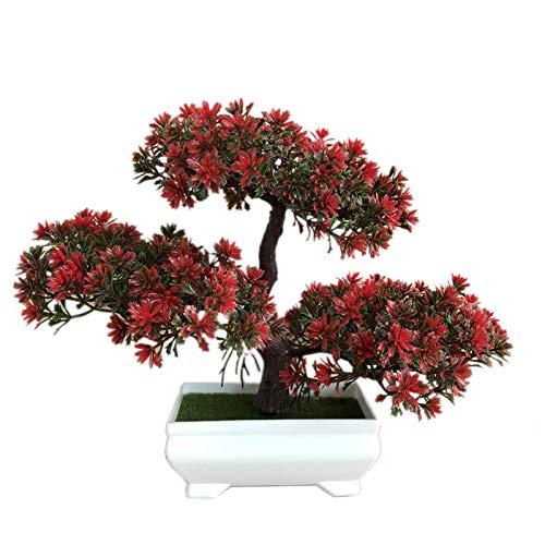 Bonsai artificial, plantas en maceta de simulación, árboles enanos en maceta para decoración del hogar y la oficina, el mejor regalo para el día de la madre, Navidad