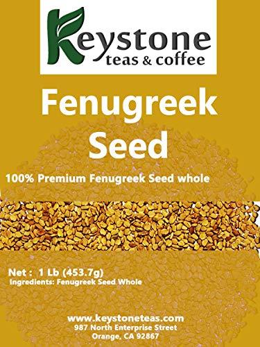 Fenugreek Seeds Whole (1 pound), Trigonella foenum graecum, Balance cholesterol, Hair and skin heath, Adding great flavor for cooking