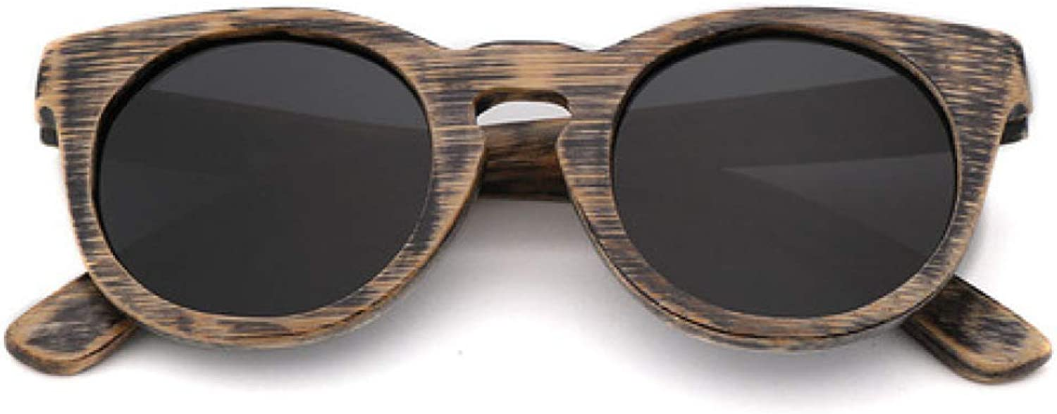 Dixinla Wood Sunglasses Retro Personality Outdoor Polarized UV Predection Goggles for Boys and Girls