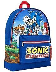 Sonic The Hedgehog Zaino Scuola Elementare per Bambino, Zaini Asilo, Zainetto Sonic, Cartella delle Scuole Elementari per Bambini, Zainetti Bimbo Scuola Materna