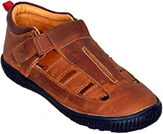MARDI GRAS Kids Leather Shoes-Brown Tan-1663