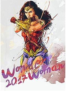 Fymm丶shop Wonder Woman Ink Style HD Poster Pintura De Lienzo Decoración De Hogar Habitación De Niños Pintura Sin Marco 50X60Cm (N: 4334)