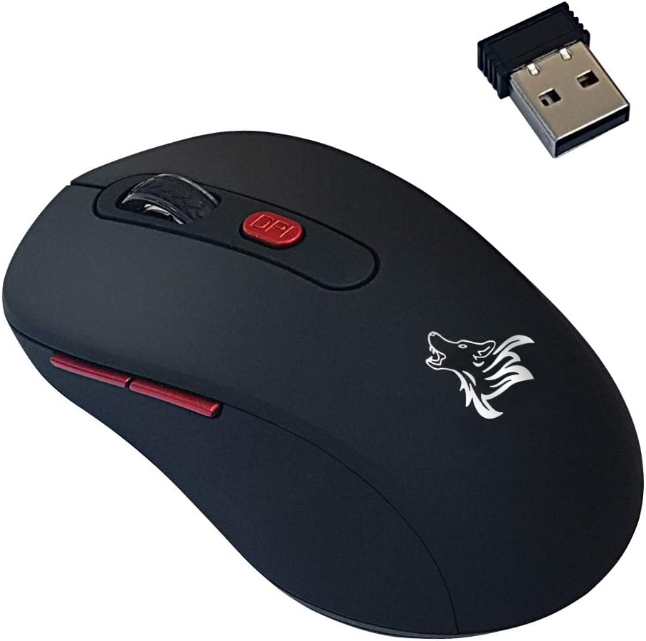 Wireless Computer Mouse with USB Receiver,2.4G Portable Optical Computer Mice-Comfortable Ergonomic-3 Adjustable DPI Levels, 3 Buttons Design, Cordless Mouse for PC, Computer, Laptop, MacBook