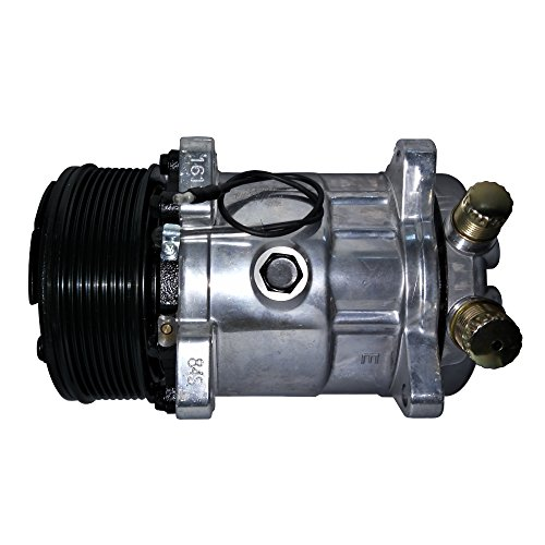 Universal A//C Compressor with PV8 Clutch SD 508 5H14 R134A 12V Serpentine Belt Type