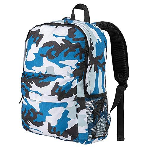 Cabin Max Haul Camo Bag Boys Backpack for School | Ideal for use as a Travel Bag and School Bag | Brilliant Boys Backpack (Blue Camo)