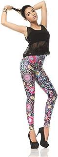 Ruiyue ファッション3dデジタル印刷パフォーマンス快適な服花スリムファッションストレッチスリムデジタルプリントレギンスヨガパンツタイツスポーツフィットネス用女性 (Color : Multi-colored, Size : M)