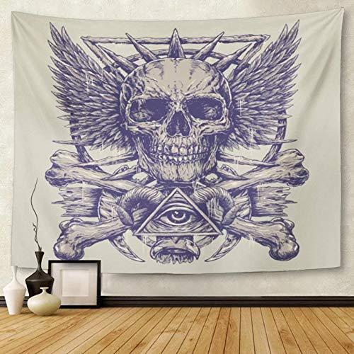 N/A Tapiz Demon Heavy Metal InspiradoEye Death Ink Rock Tapiz Colgante de Pared para Sala de Estar Dormitorio Dormitorio