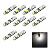 Siweex 10pcs T5 White Lights Neo Wedge LED 3-SMD 3528 Car Instrument Cluster Panel Dashboard Lamps Gauge Bulbs DC 12V