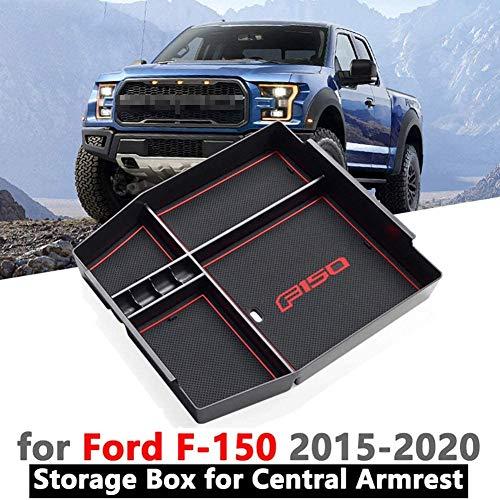 ZQTG Auto Zentrale Aufbewahrungsbox Armlehne Remoulded Auto Handschuh Aufbewahrungsbox Container Für Ford F-150 2015-2020 Zubehör Auto Styling