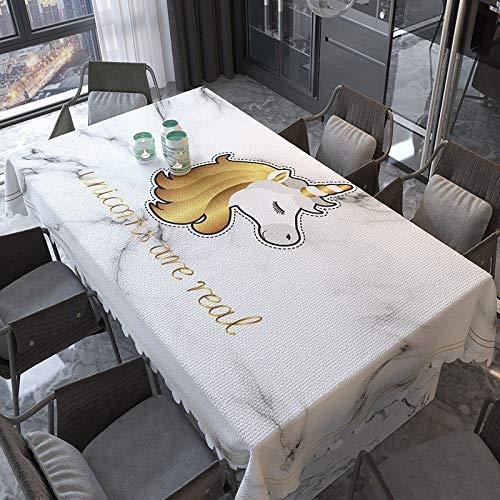 XTUK Decoración del hogar Limpie Mantel Vinilo PVC Cubierta de Mesa a Prueba de Polvo Impermeable A Prueba de Aceite Resistente a Las Manchas A Prueba de Moho Cocina Buffet 137 * 220cm