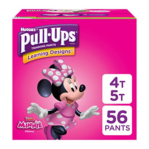 Pull-Ups Learning Designs for Girls Potty Training Pants, 4T-5T (38-50 lbs.), 56...