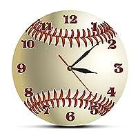 野球のカスタム名3D壁時計スポーツルームの壁の装飾あなたの名前野球のデザインアクリルプリント壁時計