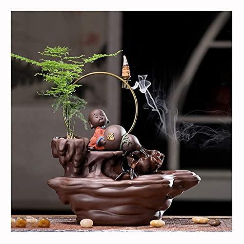 LXHJZ Adornos Feng Shui cerámica para Fuente Interior, Ideal para Adornos para el hogar, cumpleaños Ideal, Aniversario o Regalo Boda