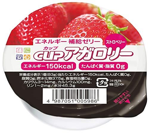 カップアガロリー ストロベリー 83g×24個 【医療食】