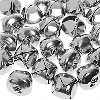 Jtshy Jumbo Silver Jingle Bells 24 pieces