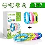ariel-gxr Bracelets Anti Moustique Naturel, 10 Pcs Bracelets Anti Moustique Adjustable,...