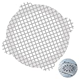60 PCS Disposable Shower Drain Mesh Stickers Disposable Sink Strainer Floor Drain Cover Sink Filter Drain Hair Catcher for Kitchen Bathroom (White,60 Pieces)