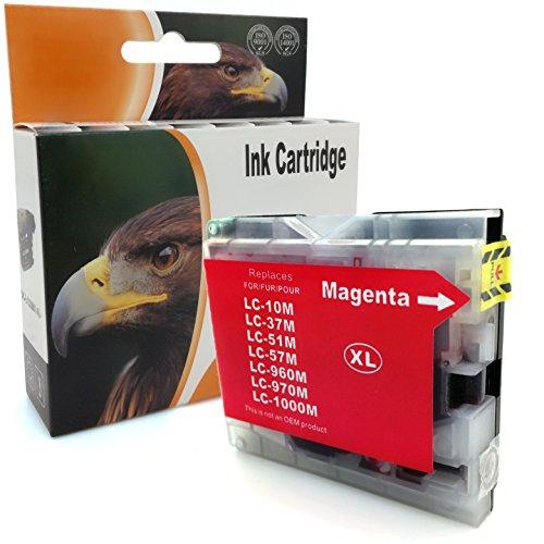 D&C Magenta - Cartucho de tinta compatible con Brother LC-1000 DCP 130 330 350 357 540 560 680 750 770 FAX 1355 1360 1460 1560 MFC 240 3360 350 4440 465 5 460 5480 5860 660 680 845 885.
