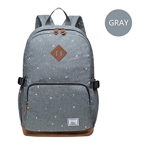 HFY Rugzak voor dames, 14 inch, multifunctionele rugzak, studenten backpack, vrije tijd, wandelen en kamperen. grijs - 1
