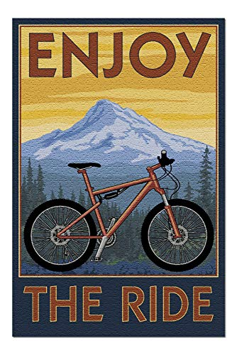 Enjoy The Ride - Mountain Bike Scene - 500 Piece Jigsaw Puzzles for Adults Kids, Puzzles for Toddler Children Learning Educational Puzzles Toys for Boys and Girls 15' x 20'