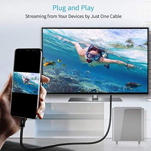 USB C auf HDMI Kabel(4K@60Hz), CHOETECH Thunderbolt 3 auf HDMI Kabel für iPad Pro 2018,MacBook Air/MacBook Pro 2019/2018/2017,ChromeBook,Dell XPS,Galaxy Note 10/S10/S10+/S9,Huawei P30/Mate 30 Pro-1.8m