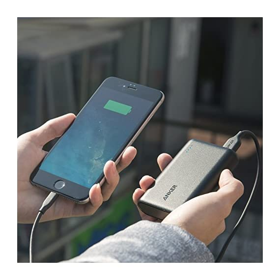 Anker PowerCore 10000 Portable Charger, One of The Smallest and Lightest 10000mAh External Battery, Ultra-Compact High-Speed-Charging-Technology Power Bank for iPhone, Samsung Galaxy and More 7 Specifications: 100% brand new and high quality. Pattern:Solid