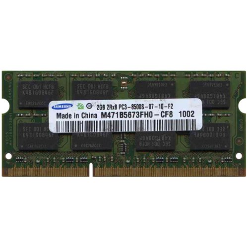 【2GB】Samsung純正 ノートパソコン用DDR3メモリー 1066MHz 204pin SO-DIMM PC3-8500 (M471B5673FH0-CF8)