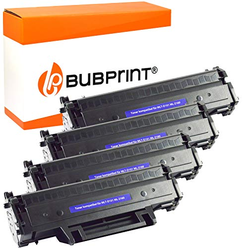 4 Bubprint Toner kompatibel für Samsung MLT-D101S für ML-2160 ML-2165 ML-2165W ML-2168 SCX-3400 SCX-3400F SCX-3405 SCX-3405F SCX-3405FW SCX-3405W SF-760P Schwarz