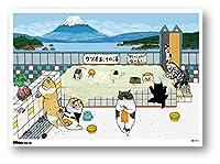 POS-136 B5サイズミニポスター 【銭湯】 世にも不思議な猫世界