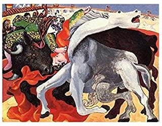 """1964 Vintage PICASSO /""""THE BULLFIGHT/"""" FABULOUS /& FAMOUS COLOR offset Lithograph"""